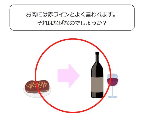 お肉には赤ワイン